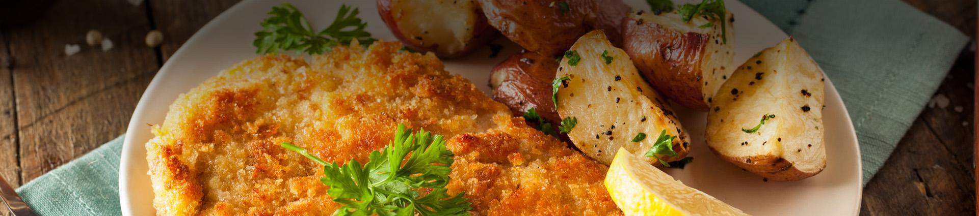 Schabowy z ziemniakami